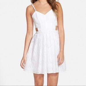 Sam Edelman White Cutout Eyelet Dress